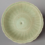 Chinese bracket-rimmed celadon plate from the 'Longquan' wreck, diameter 24cm
