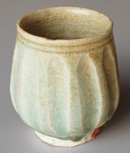 Sisatchanalai celadon cup from the 'Longquan' wreck; height 8cm
