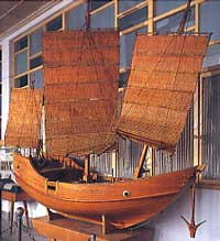 Model of the Quanzhou ship,  in the museum housing the archaeological remains.