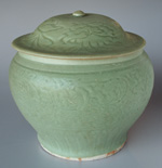 Chinese  celadon guan, height 27cm
